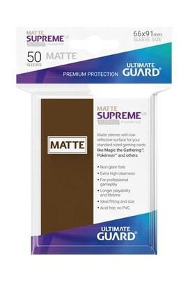 Ultimate Guard Koszulki Supreme UX Standard Matte Brązowe (50)