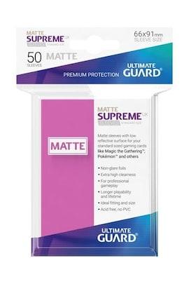 Ultimate Guard Koszulki Supreme UX Standard Matte Różowe (50)