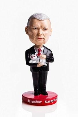 Figurka Bobble Head - Jarosław Kaczyński z Kotem