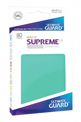 Ultimate Guard Koszulki Supreme UX Standard Matte Turkusowe (80)
