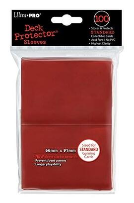 Ultra-Pro Koszulki Deck Protector Standard 66x91 - Czerwony (100szt)