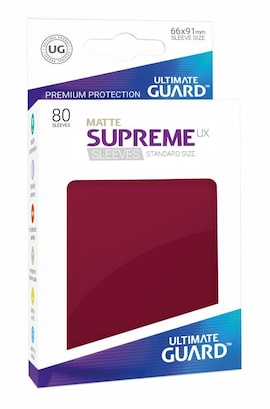 Ultimate Guard Koszulki Supreme UX Standard Matte Bordowe (80)
