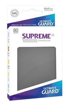 Ultimate Guard Koszulki Supreme UX Standard Ciemno Szare (80)