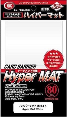 KMC Standard Sleeves - Hyper Mat White (80)