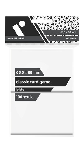 Koszulki Rebel (63,5x88) Classic Card Game 100 szt. - Białe