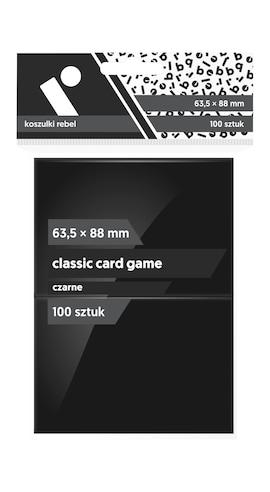 Koszulki Rebel (63,5x88) Classic Card Game 100 szt. - Czarne