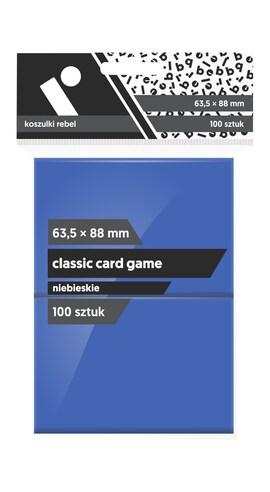 Koszulki Rebel (63,5x88) Classic Card Game 100 szt. - Niebieskie