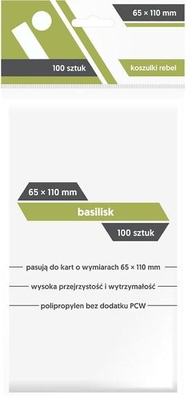 Koszulki na karty Rebel (65x110) Basilisk 100szt