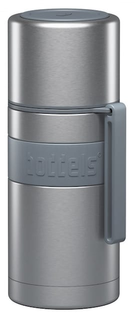 Boddels Heet Vacuum Flask With Cup Light Grey, Capacity 0.35 L, Diameter 7.2 Cm, Bisphenol A (Bpa) F