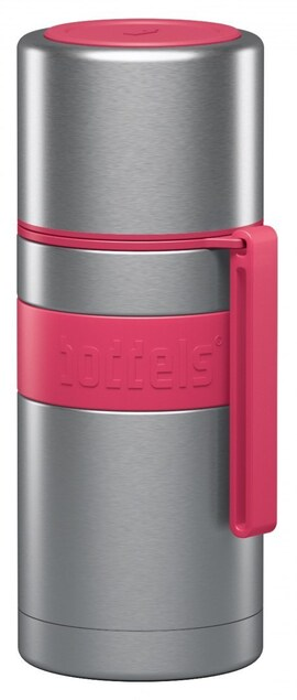 Boddels Heet Vacuum Flask With Cup Raspberry Red, Capacity 0.35 L, Diameter 7.2 Cm, Bisphenol A (Bpa