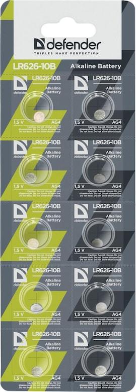Baterie Alkaliczne Defender 1.5V Lr626-10B Ag4 Blister 10 Szt
