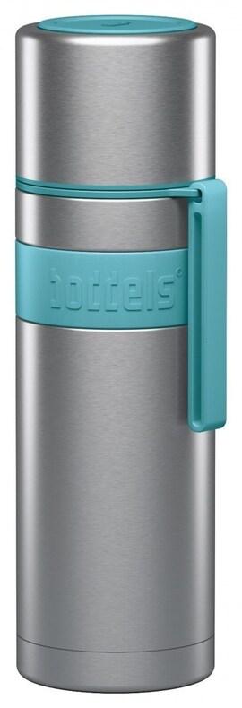 Boddels Heet Vacuum Flask With Cup Turquoise Blue, Capacity 0.5 L, Diameter 7.2 Cm, Bisphenol A (Bpa
