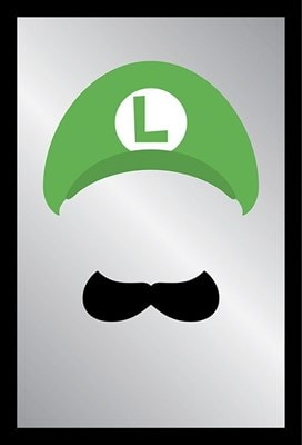 Super Mario Luigi Face Mirror 22x32cm