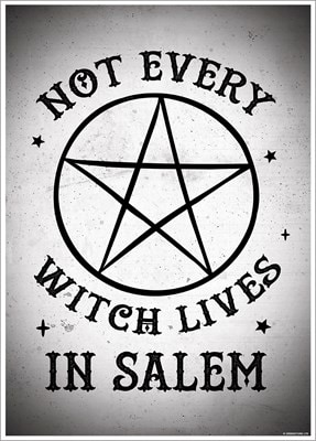 Not Every Witch Lives In Salem Mini Poster 32x44cm