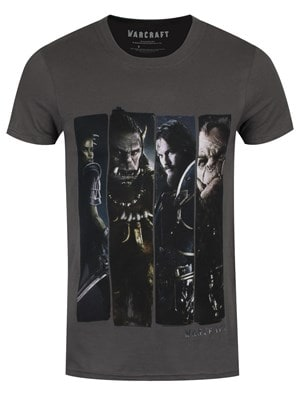 """World of Warcraft Men's Warcraft Characters Slice Charcoal Tshirt Dark Grey / Small (Mens 36"""" to 38"""")"""
