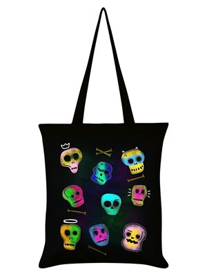 Trick Or Treat Spooky Skulls Halloween Black Halloween Bag 38x42cm
