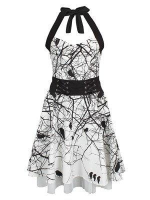 Women's Vixxsin Dark Crow Dress  Skinny Fit XL (UK 14 to 16)