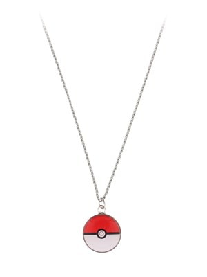 Pokemon Poke Ball Small Pendant with Chain Necklace Silver