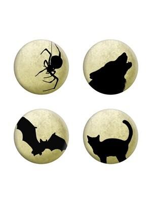 Moonlit Silhouettes Cream Badge Pack