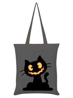 Pumpkin Kitten Halloween Halloween Bag Graphite Grey 38 x 42cm