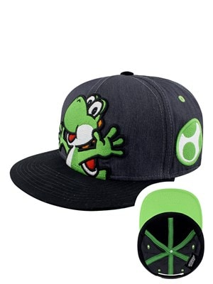 Nintendo Super Mario Yoshi & Egg Snapback Cap Black