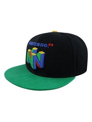 Nintendo N64 Logo Snapback Cap Black