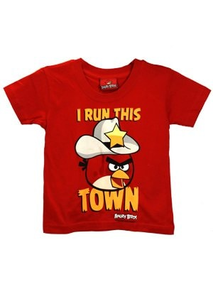 Officially Licensed Angry Birds I Run This Town Red Kids Tshirt  Kids 1 to 2 Years
