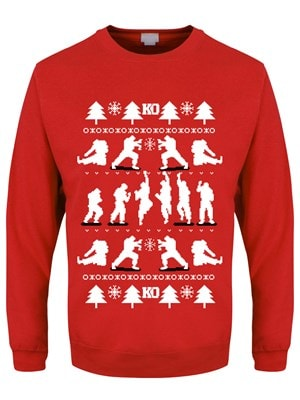 """Men's KO Christmas Jumper Sweater Red  Extra Small (Mens 34"""" to 36"""")"""