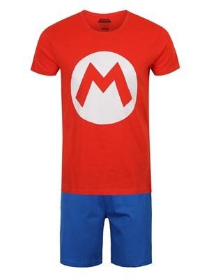 "Nintendo Super Mario Logo Short Pyjama Set Men's  Medium (Mens 38"" to 40"")"