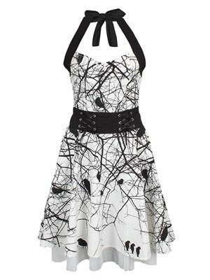 Women's Vixxsin Dark Crow Dress  Skinny Fit M (UK 10 to 12)