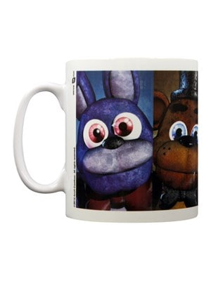 Five Nights At Freddy's Faces Mug White