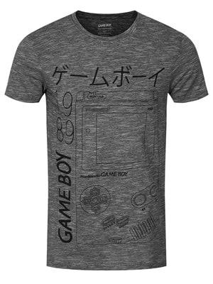 """Nintendo Men's Gameboy Tshirt Grey / Large (Mens 40"""" to 42"""")"""