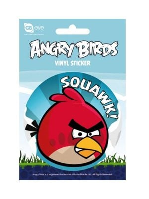 Officially Licensed Angry Birds Vinyl Sticker Featuring Squawk! Design