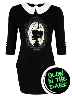 Banned Women's In The Moment Glow In The Dark Mini Dress Black  Skinny Fit Extra Large (UK 14 to 16)
