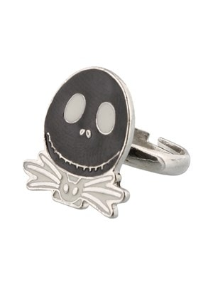 The Nightmare Before Christmas Jack With White Bow Tie Ring