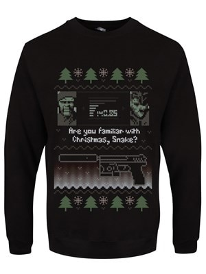 """Men's Are You Familiar With Christmas Snake? Sweater Black  Large (Mens 40""""to 42"""")"""
