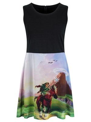 Nintendo The Legend of Zelda Women's Ocarina Of Time Dress  Skinny Fit Large (UK 12 to 14)