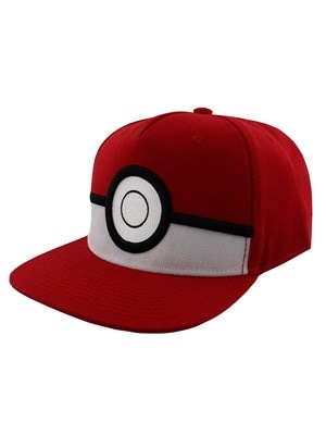 Pokemon 3D Pokeball Snapback PKMN Cap Red