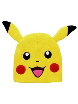 Pokemon Pikachu With Ears PKMN Beanie Yellow