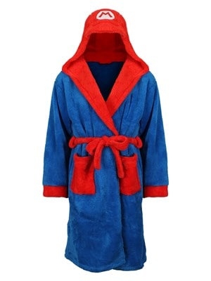 Super Mario Nintendo Bathrobe Blue  L to XL
