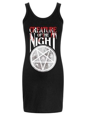 Women's Creature Of The Night Black Mini Dress  Skinny Fit Large (UK 12 to 14)