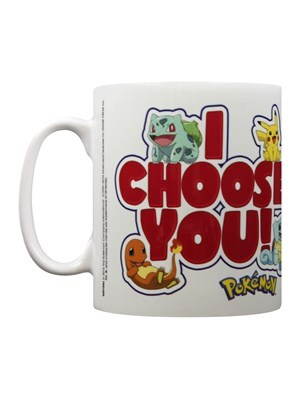 Pokemon I choose You PKMN Mug White
