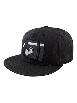 Super Mario Nintendo Bullet Bill Embroidered Snapback Cap Black