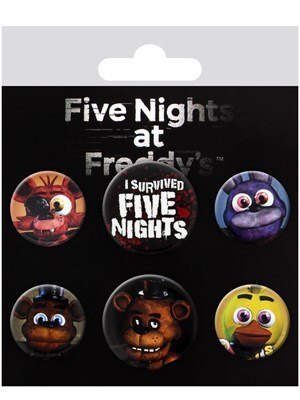 Five Nights At Freddy's Mix Badge Pack