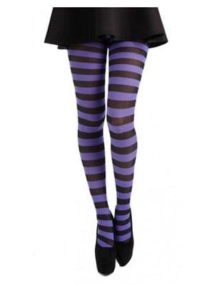 Women's Flourescent Purple & Black Twickers Tights