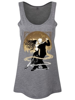 Women's The Dance Of Eternity Grey Floaty Vest  Skinny Fit S (UK 8 to 10)