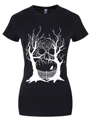 Women's Cranium Copse Tshirt Black  Skinny Fit L (UK 12 to 14)