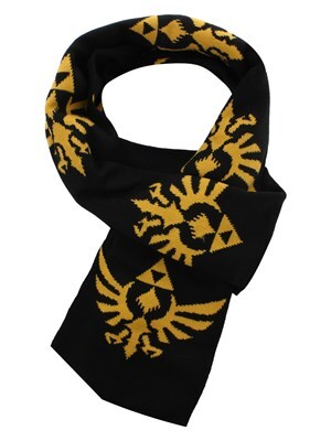 Nintendo Legend of Zelda Triforce Logo Scarf Black