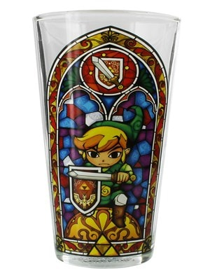 Legend of Zelda The Link Boxed Glass Drinking Glass