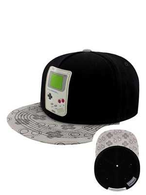 Nintendo Gameboy Rubber Patch Snapback Cap Black
